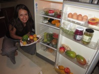 Our fridge while staying in Zinkwazi! We felt like we were in some sort of Health/Nutrition magazine photo shoot!